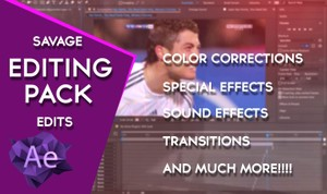 Savage Edits Editing pack: 80+ things, Color Corrections, Sound Effects, Transitions and Effects!!!!