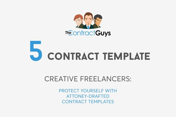 Bundle of 5 Contract Templates for Creative Freelancers