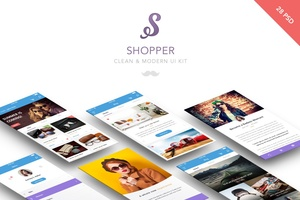 Clean Mobile UI Kit - Shopper