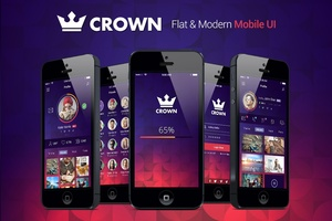 Crown Mobile UI Kit