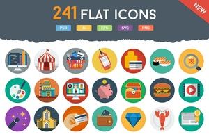 241 Flat Icons