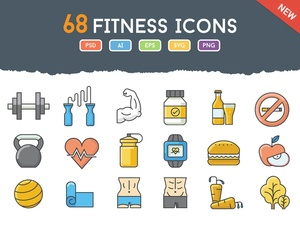 68 Fresh Fitness Icons