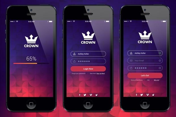 Crown Mobile UI Kit