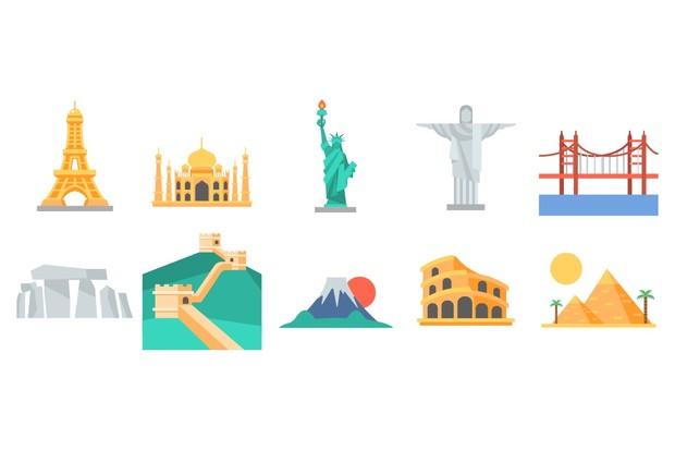 101 Flat Travel Icons