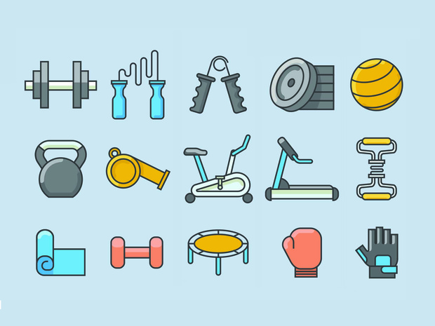 68 Fresh Fitness Icons