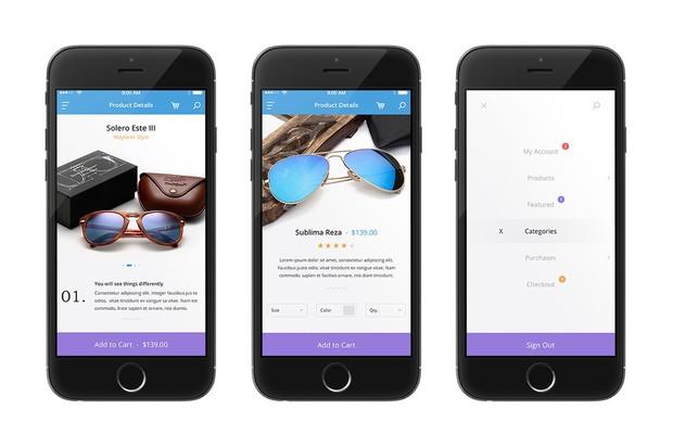 Clean Mobile UI Kit - Shopper