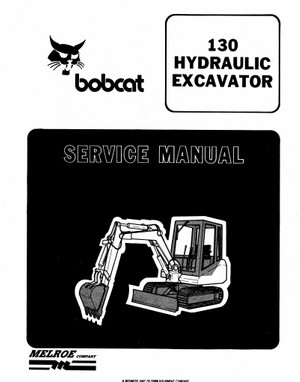 Bobcat 130 Hydraulic Excavator Workshop Service Repair Manual PDF