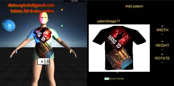 Tshirts 3d design HTML5 source code
