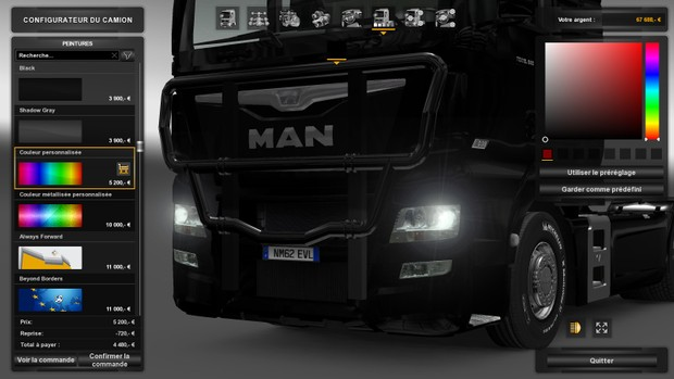 pare buffle man TGX E6 with points (truck paint)