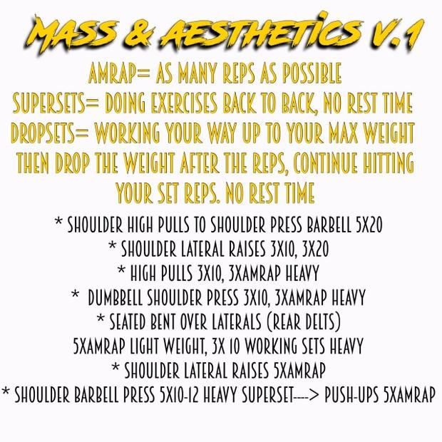Free Shoulder Workout