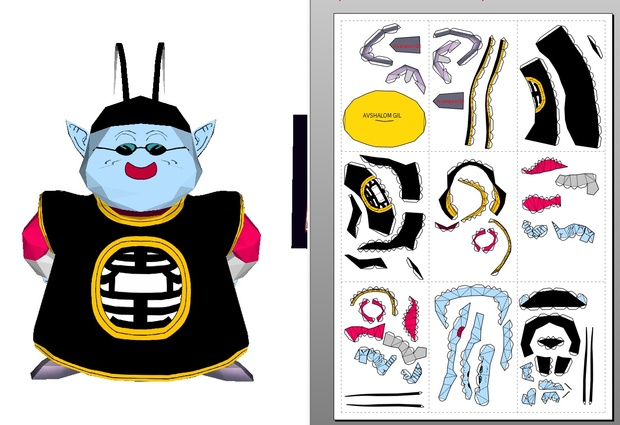 Papercraft Chibi -KING KAI
