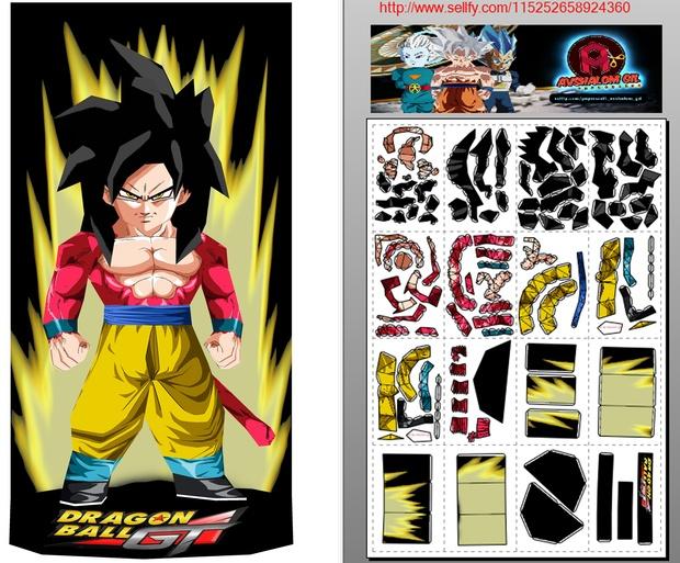 Papercraft Chibi Goku SSJ4