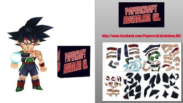 Papercraft Chibi - Bardock-Damaged-Batlle