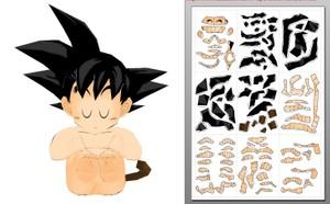 Papercraft baby goku