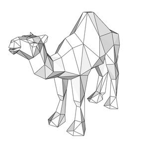 Papercraft Camel Dromedary_file PDF