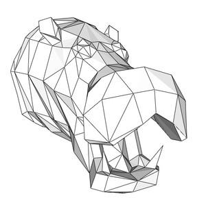 Papercraft Head hippopotamus_file PDF