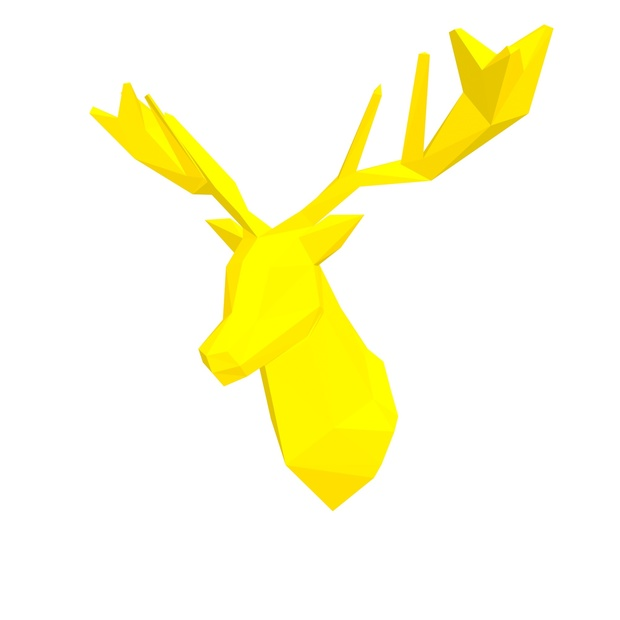 Papercraft Head deer_file PDF