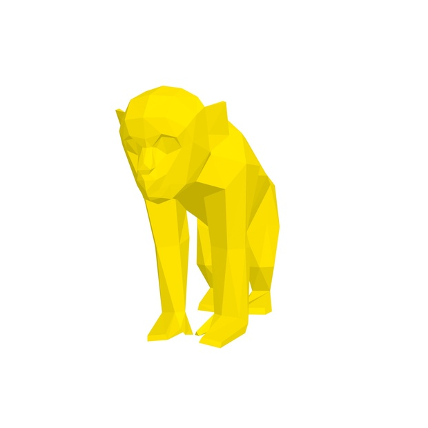 Papercraft barbary ape (Y) _file PDF