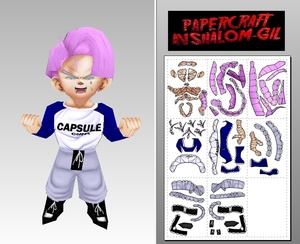 Papercraft Chibi Trunks crying