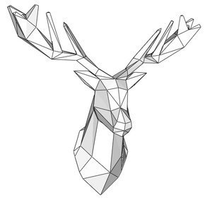 Papercraft Head deer_file PDF
