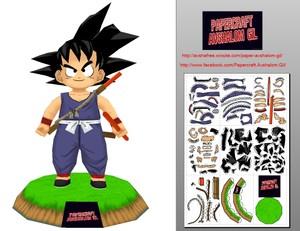 Papercraft- Kid Goku