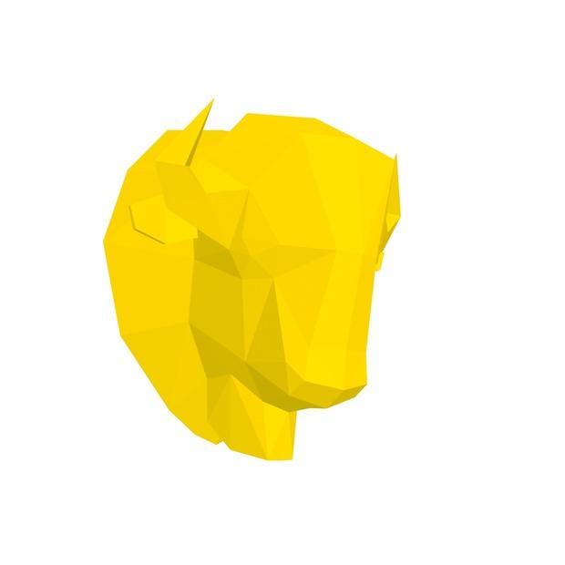 Papercraft Head Bison American_file PDF