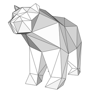 Papercraft Bear Grizzly_file PDF