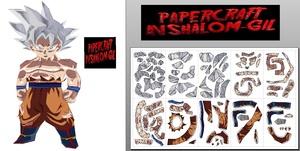 Papercraft chibi goku ultra instinct full power V2