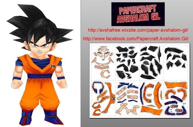 papercraft_DBZ-Goku-N