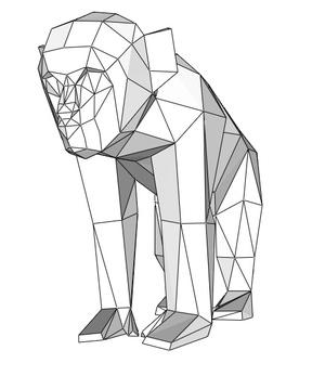 Papercraft barbary ape (Y) _file PDF