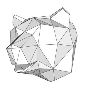 Papercraft Head_bear_file PDF