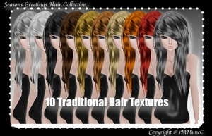 10 Traditional Hair Textures With Resell Rights (SG)