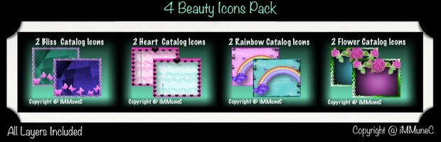 8 Beauty Catalog Icons With Resell Rights