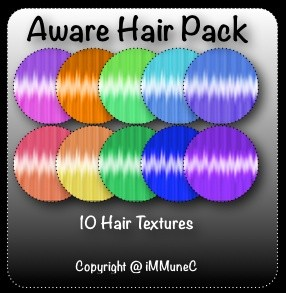 10 Aware Hair Textures With Resell Rights