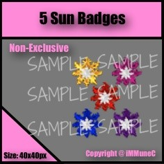 5 Sun Badges