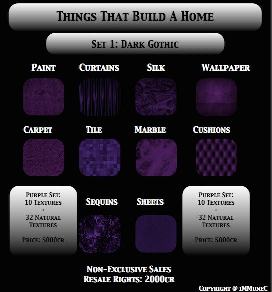 42 Dark Gothic Purple Room Textures With Resell Rights