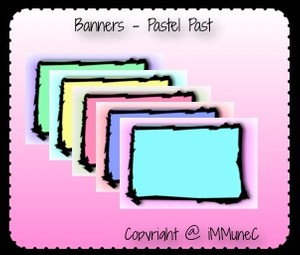 5 Pastel Past Banners