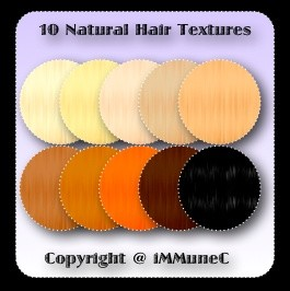 10 Natural Hair Textures With Resell Rights