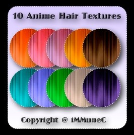 10 Anime Hair Textures With Resell Rights