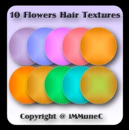 10 Flowers Hair Textures
