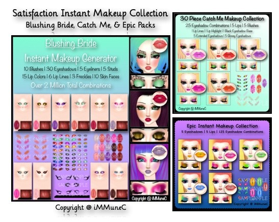 (1/10 Sold) Satisfaction Instant Makeup Pack With Resell Rights