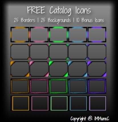 50 FREE Catalog Icons by iMMuneC @ IMVU