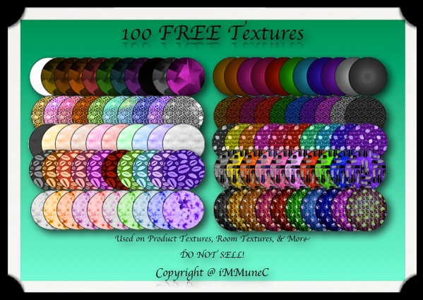 100 FREE Textures by iMMuneC @ IMVU