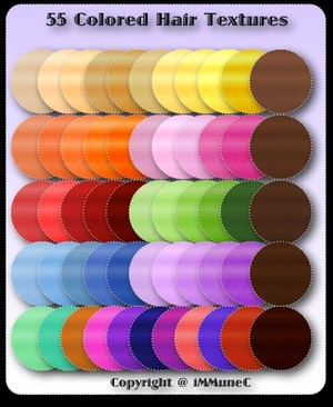 55 Colored Hair Textures With Resell Rights