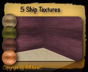 5 Ship Room Textures