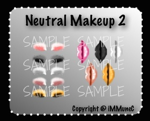 10 Neutral Lips & Eyeshadows Instant Makeup With Resell Rights