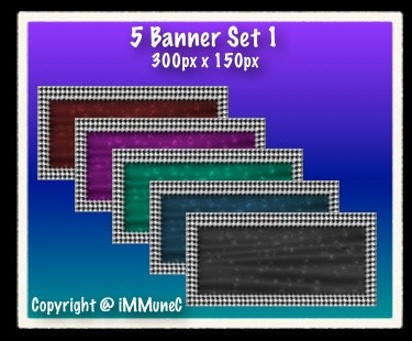 5 Banners (Set 1)