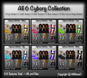 54 Cyborg Collection Product Textures