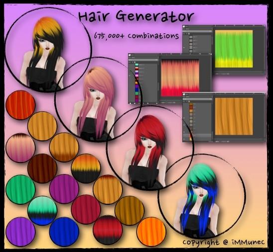 675,000 Piece Hair Generator