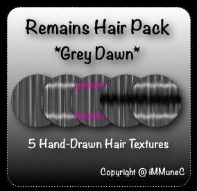 5 Grey Dawn Remains Hair Textures